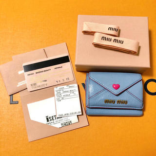 miumiu - miumiu ラブレター 3つ折り財布