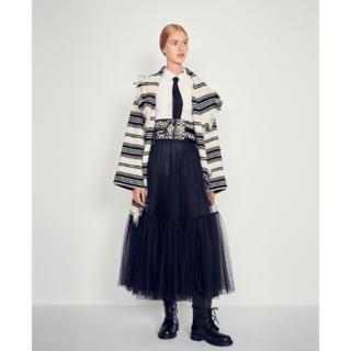 ディオール(Dior)のDior_women / フリンジ付きストライプガウンコート(ニット/セーター)