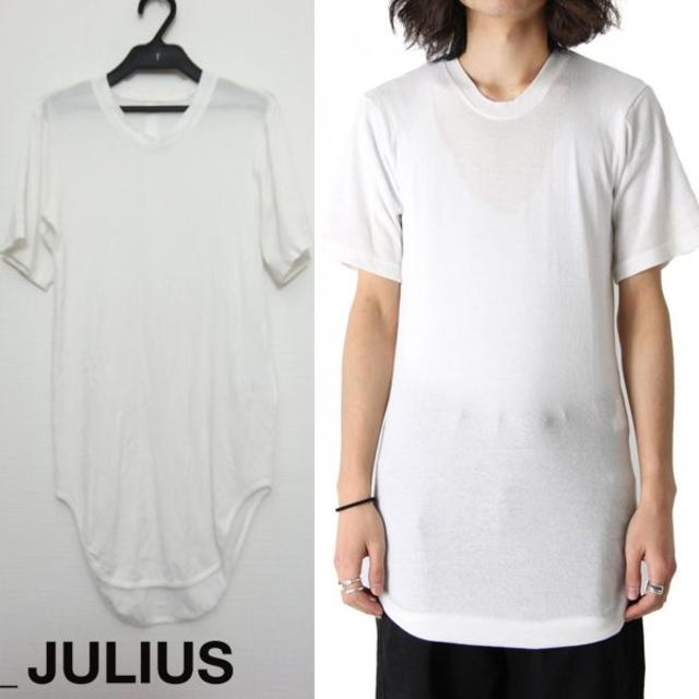 JULIUS(ユリウス)のJULIUS ウェビングラウンドTシャツ 1 2018SS カットソー ホワイト メンズのトップス(Tシャツ/カットソー(半袖/袖なし))の商品写真