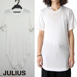 JULIUS - JULIUS ウェビングラウンドTシャツ 1 2018SS カットソー ホワイト