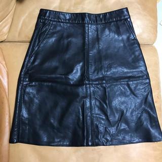 ZARA - 未使用 ZARA ブラック レザースカート