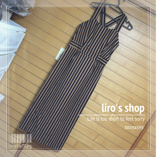 moussy - moussy♡ STRIPE LONG DRESS
