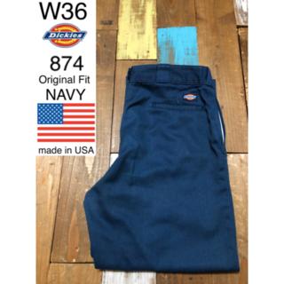 ディッキーズ(Dickies)の39668 アメリカ輸入 USA製 ディッキーズ 874 ネイビー W36(ワークパンツ/カーゴパンツ)