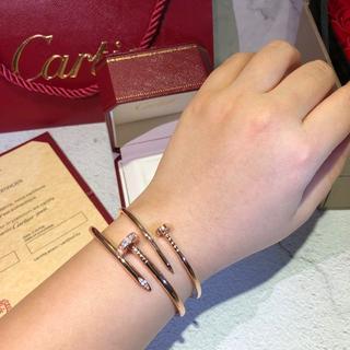 Cartier - カルティエ レディース 女性 人気 バングル ダイヤ くぎ 三色 美品