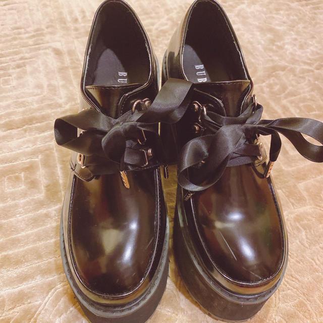 Bubbles(バブルス)のバブルス サテンヒールシューズ レディースの靴/シューズ(ローファー/革靴)の商品写真