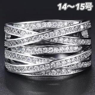 SWAROVSKI - ★定価7580円★【SWAROVSKI】14~15号 クリスタル ジェム 指輪