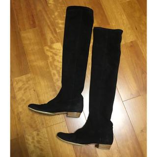 ダブルスタンダードクロージング(DOUBLE STANDARD CLOTHING)のダブルスタンダード ニーハイ ブーツ 黒 美品(ブーツ)