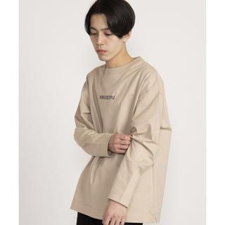 ウィゴー(WEGO)のWEGO ドロップショルダーロゴプリントロンT(Tシャツ/カットソー(七分/長袖))