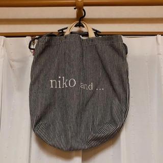 ニコアンド(niko and...)の【nico and...】ストライプトートバッグ(トートバッグ)