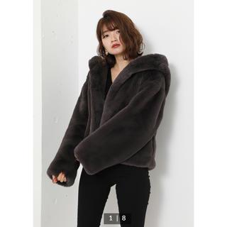 リエンダ(rienda)のリエンダ(^^ Faux Fur Hoodie Short CT(毛皮/ファーコート)