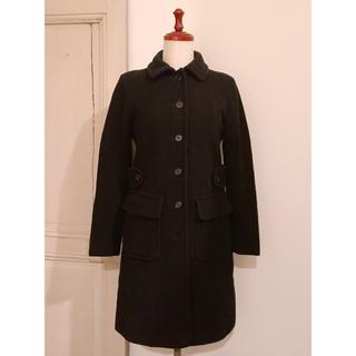 Lochie - vintage 丸襟 ウールコート ひざ丈コート ブラック 黒 ウール