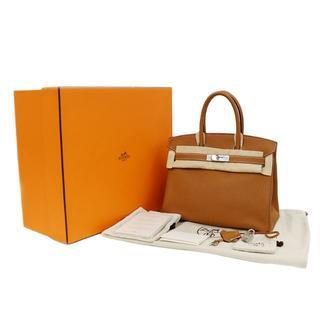 エルメス(Hermes)のHERMES バーキン30 トゴ ゴールド □N刻印 ハンドバッグ A1794(ハンドバッグ)