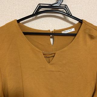 ハニーズ(HONEYS)の長袖カットソー トップス イエロー 黄色 マスタード Lサイズ 大きいサイ(カットソー(長袖/七分))