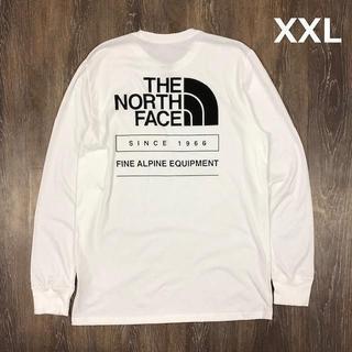 ザノースフェイス(THE NORTH FACE)のノースフェイス 長袖Tシャツ1966バックプリント(XXL)白黒 180902(Tシャツ/カットソー(七分/長袖))