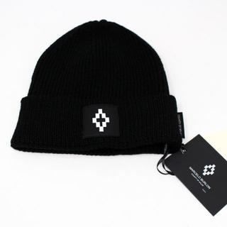 マルセロブロン(MARCELO BURLON)の新品 MARCELO BURLON COUNTY ニット帽 ブラック(ニット帽/ビーニー)