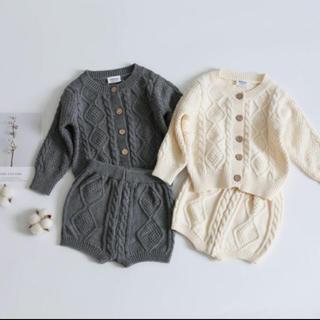 プティマイン(petit main)の韓国こども服 ニット セットアップ 韓国子供服(ニット/セーター)