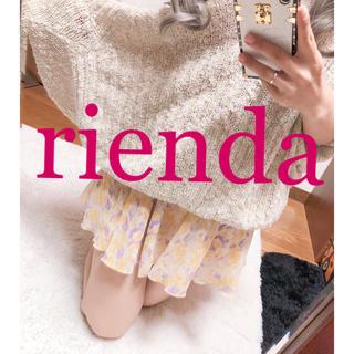 リエンダ(rienda)の1319.rienda シフォン 花柄 ゆるプリーツ ミニスカート スカパン(ミニスカート)
