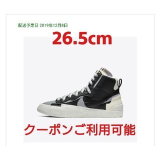 ナイキ(NIKE)のNIKE SACAI BLAZER MID Black 26.5cm(スニーカー)