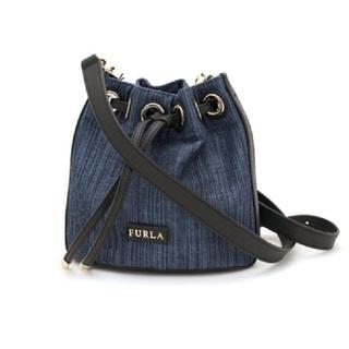 Furla - 本日限定価格☆FURLA 巾着型 ネイビー デニム色 ミニ ショルダー バッグ