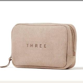 THREE - *新品* THREE コンフィーポーチ ノベルティ