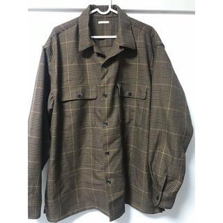 GU - GU オープンカラーシャツ グレンチェック XXL