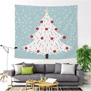 YUZO クリスマスタペストリー ホワイトツリー おしゃれ