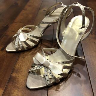 パーティー靴 ゴールド 23cm(ハイヒール/パンプス)