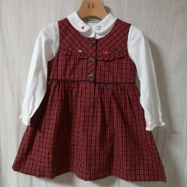 familiar(ファミリア)のMeow様専用♡ファミリア ジャンパースカート キッズ/ベビー/マタニティのキッズ服女の子用(90cm~)(ワンピース)の商品写真