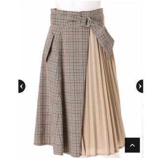 JUSGLITTY - 雑誌掲載♡未使用チェックプリーツスカート
