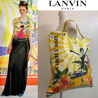 ランバン(LANVIN)のLANVIN PARIS 2009s アルベールエルバス期 イラストトートバッグ(トートバッグ)