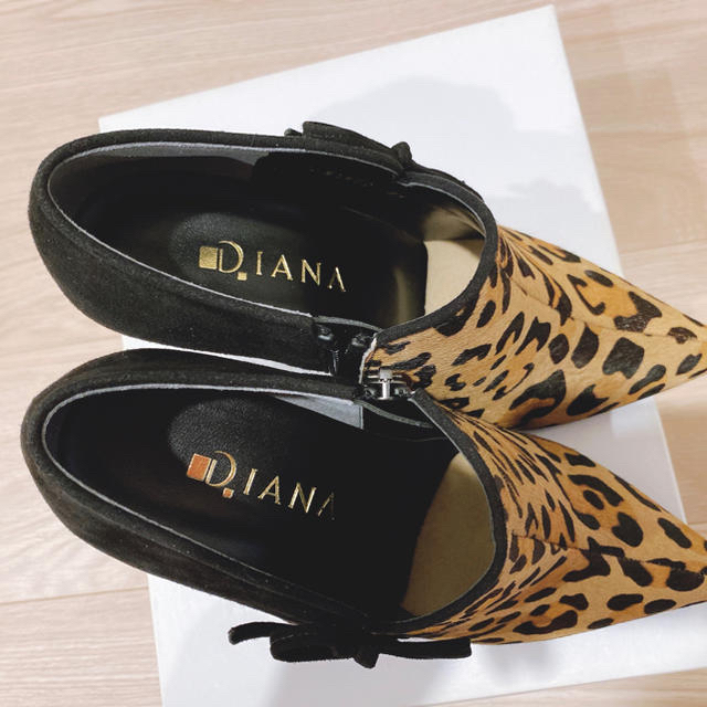 DIANA(ダイアナ)のダイアナ ハラコ&スエード レオパードブーティー レディースの靴/シューズ(ブーティ)の商品写真