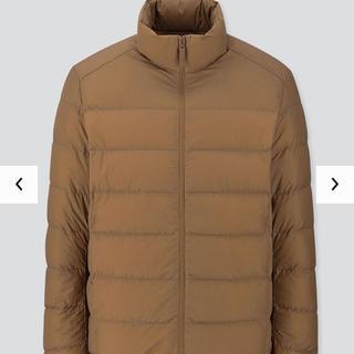 UNIQLO - ユニクロ ライトダウンワイドキルトジャケット ブラウンSサイズ