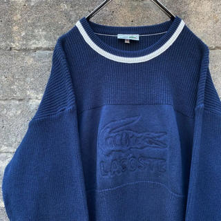 LACOSTE - 90's old LACOSTE ラコステ コットンニット