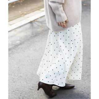 IENA - 新品タグ付き*サテンバイヤスフレアスカート