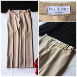 PAUL & JOE - 【仏製】PAUL&JOE スクエアバックルのベルトがついたパンツ 38 ベージュ