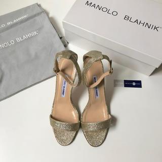 MANOLO BLAHNIK - 未使用 ★ マノロブラニク カオス ストラップサンダル