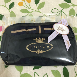 TOCCA - 新品未使用🌟TOCCAリボン付きポーチ ネイビー