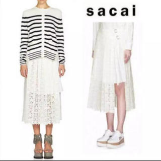 sacai - sacai 星 レース スカート