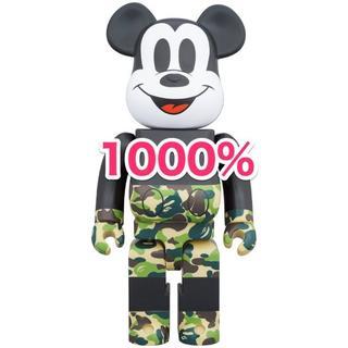 アベイシングエイプ(A BATHING APE)のBE@RBRICK BAPE MICKEY MOUSE 1000% GREEN(その他)