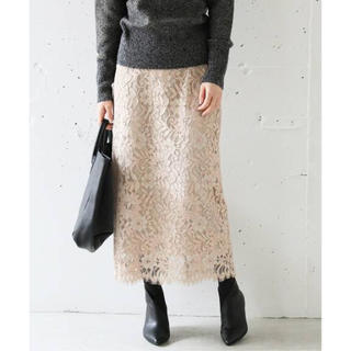 IENA - 新品タグ付き*ニュアンスレースタイトスカート