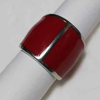 リング 赤 14号 レトロ クール(リング(指輪))
