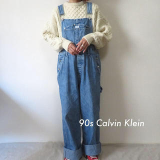 Calvin Klein - 90s カルバンクライン デニム オーバーオール サロペット 古着