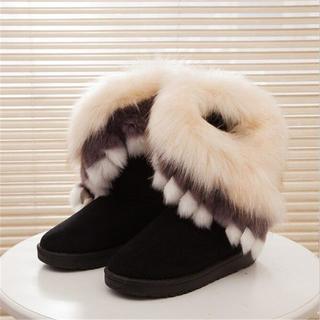 レディース 毛皮ブーツ 靴(ブーツ)