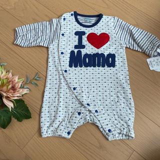 未使用タグ付き ロンパース チビオール ストライプ  新生児 ベビー服