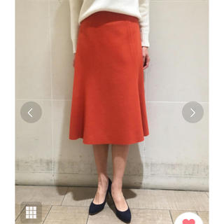 TOMORROWLAND - 美品 ボールジー ウール スカート オレンジ