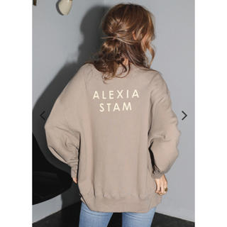 ALEXIA STAM - 新品 Alexia Stam  スウェット トレーナー ロゴ ベージュ