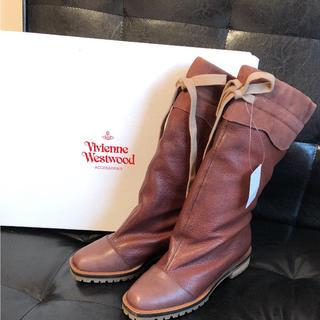 ヴィヴィアンウエストウッド(Vivienne Westwood)の新品 定価64,800円 本革ブーツ  ヴィヴィアン ウエストウッド(ブーツ)
