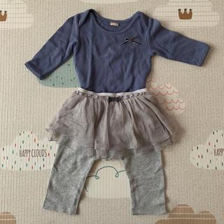 プティマイン(petit main)のプティマイン ロンパース・チュールスカート付きレギンスセット(ロンパース)