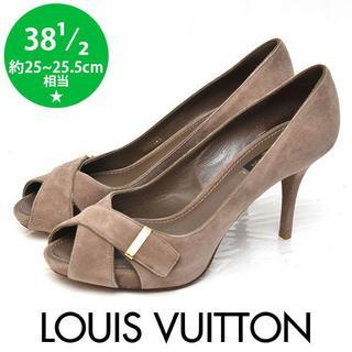 LOUIS VUITTON - 新品❤️ルイヴィトン スウェード クロスパンプス 38 1/2(約25-25.5
