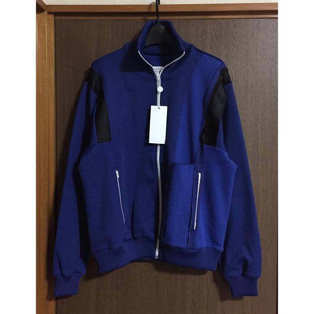Maison Martin Margiela(マルタンマルジェラ)の新品 メゾンマルジェラ インサイドアウト スウェット トラックジャケット ブルー メンズのトップス(スウェット)の商品写真
